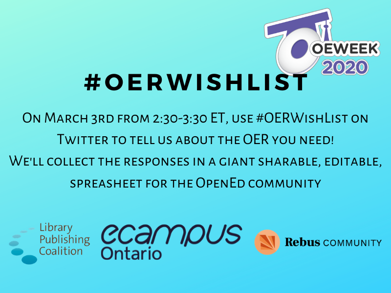 #OERWishList: A Twitter Chat for the Future of Open Education