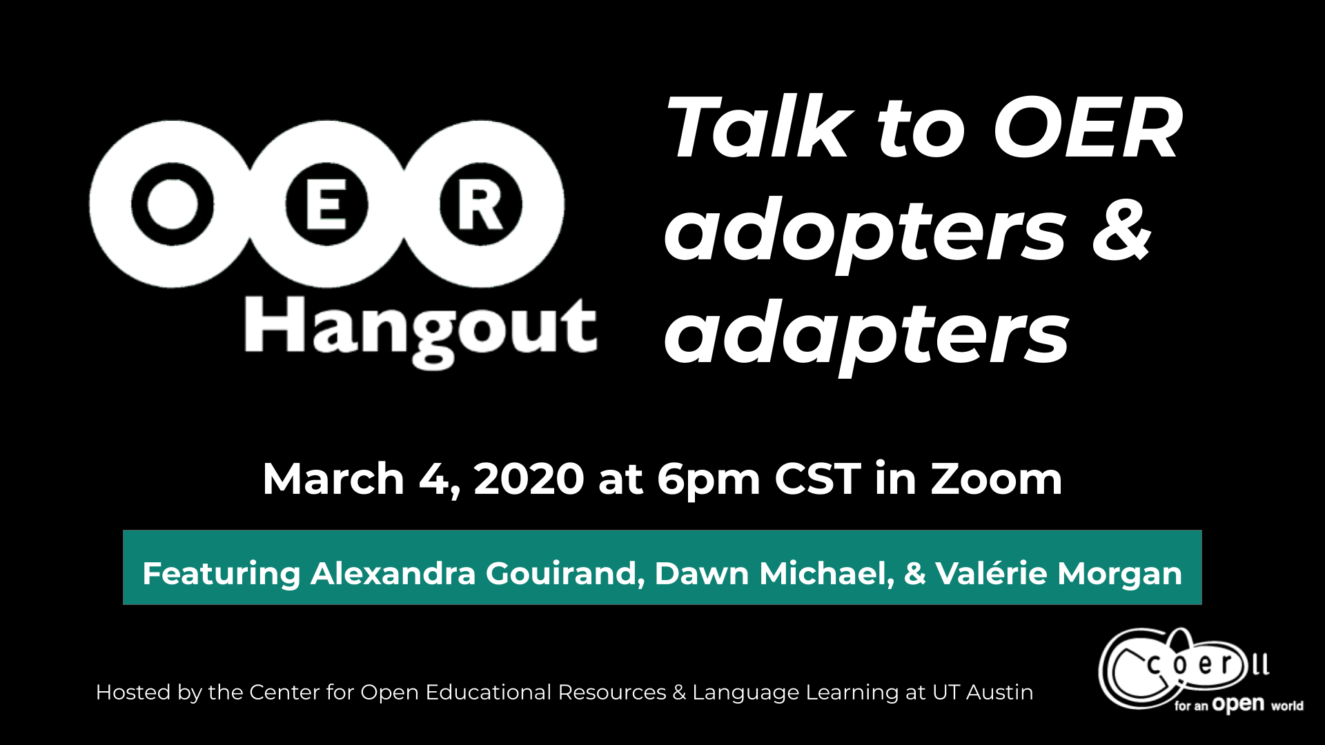 OER Hangout: Stories from teachers who have adopted and adapted OER