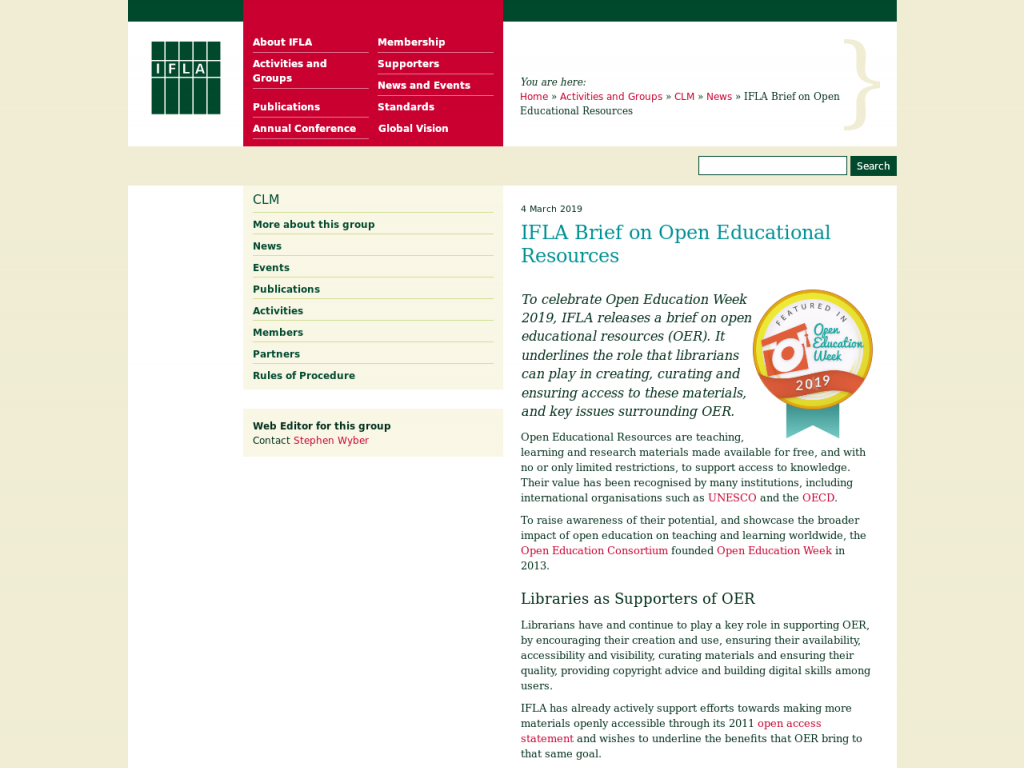 IFLA Brief on Open Educational Resources