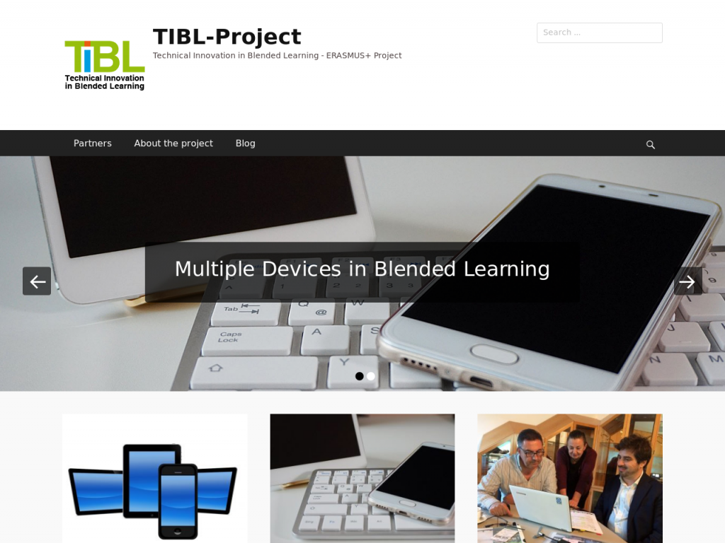 Technical Innovation in Blended Learning. An EU project on continuous vocational education using multiple devices